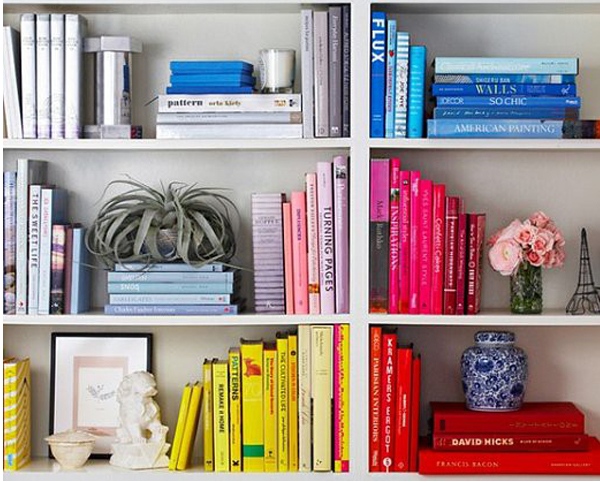 Sweetpirations - Color-coded Bookshelves - 18APR2013
