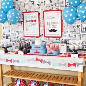 Mustache Themed Party for Your (Little) Man