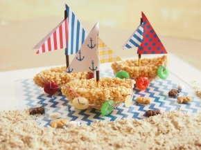 Sail Away With SweetP: D.I.Y. Rice Krispies SailBoat