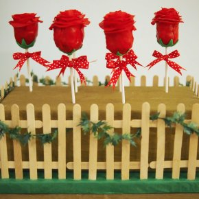 Chocolate Rose Cake Pop Garden