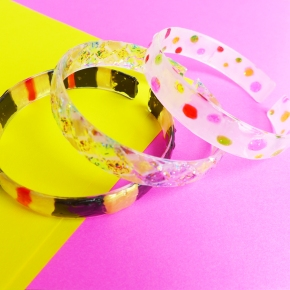 D.I.Y. Stained Glass Bangles
