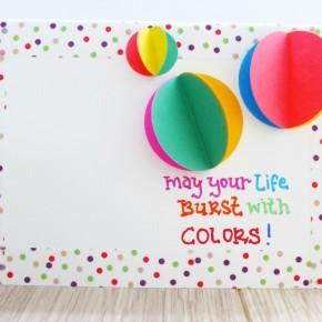Colorful 3D BubblesCard