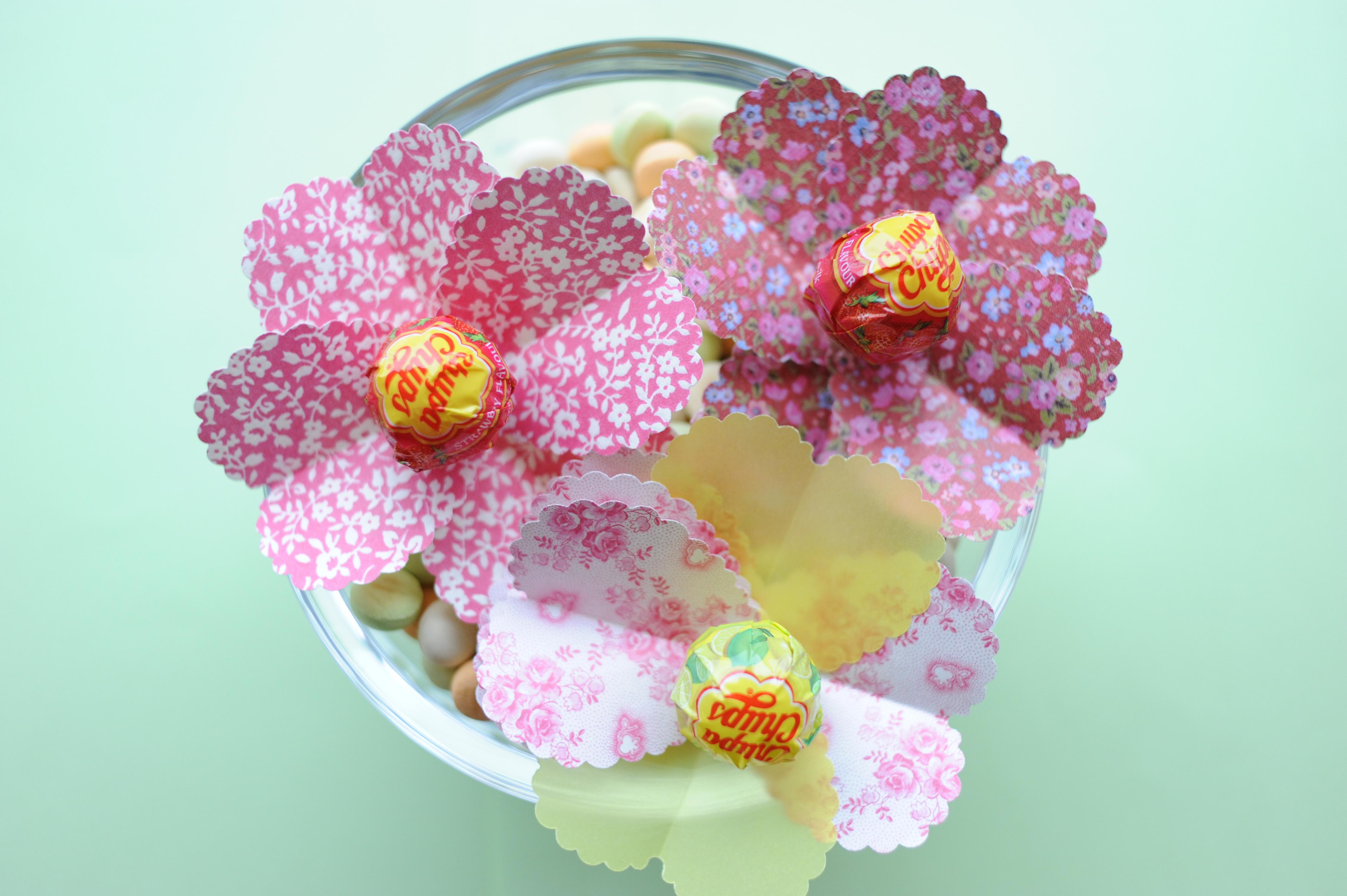 handmade lollipop flowers