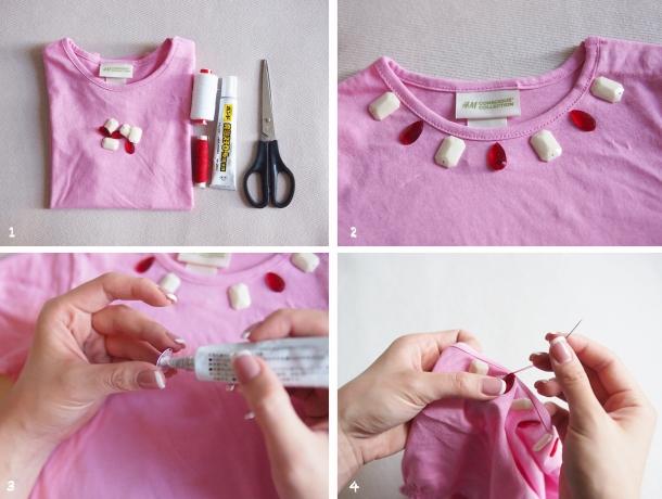 DIY pink tshirt