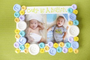 Cute as a Button Picture Frame