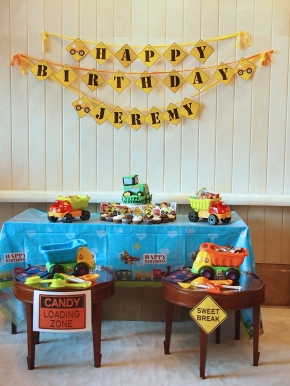 Boy's Construction Themed Birthday Party