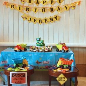 Boy's Construction Themed BirthdayParty