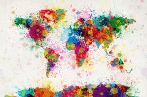 Beautiful World Maps by MichaelTompsett
