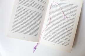Beaded Braided Thread Bookmark