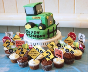 Rice Krispies Tractor Birthday Cake