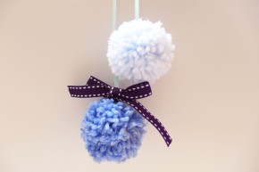 Sweet Little Yarn Pom-Poms