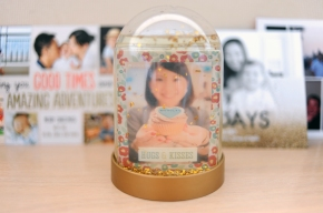 D.I.Y. Snow Globe Photo Frame