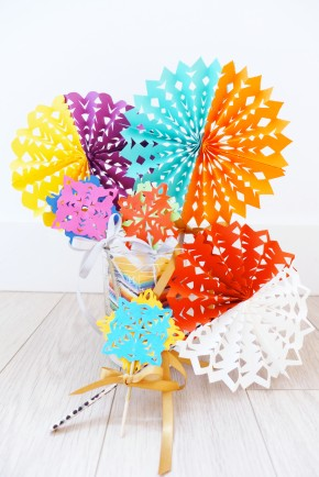 Colorful Paper Cutout Decorations