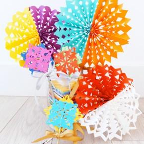 Colorful Paper CutoutDecorations