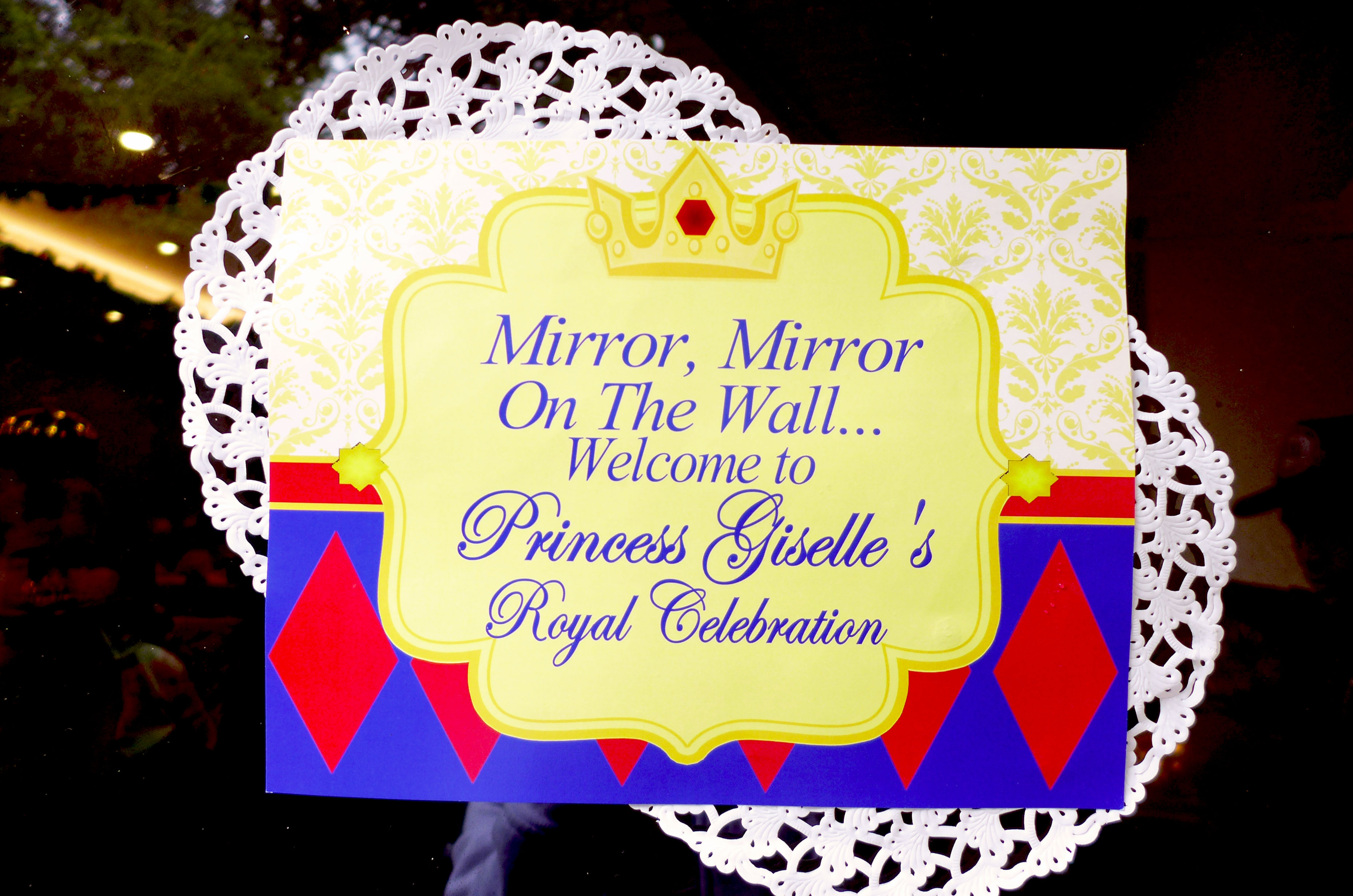 Snow white themed birthday party whats the not so secret password mirror mirror on the wall amipublicfo Choice Image