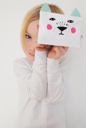 D.I.Y. Animal Envelopes for Valentine's