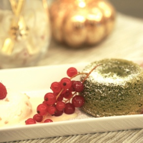 Cooked For You: Matcha Green Tea and White Chocolate Molten Lava Cake
